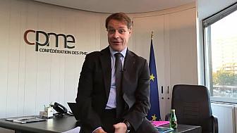 François Asselin présente PME ! by CPME, le 12 juin 2018 au Palais Brongniart